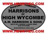Harrisons of High Wycombe Motorcycles Dealer Decal Transfers DDQ18